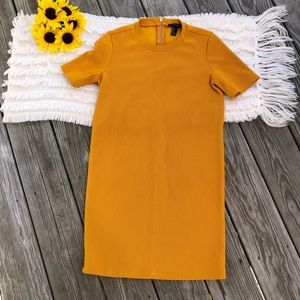 Forever 21 mustard shift dress sz small